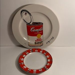 Andy Warhol Limited Edition Cambell's Soup Plates